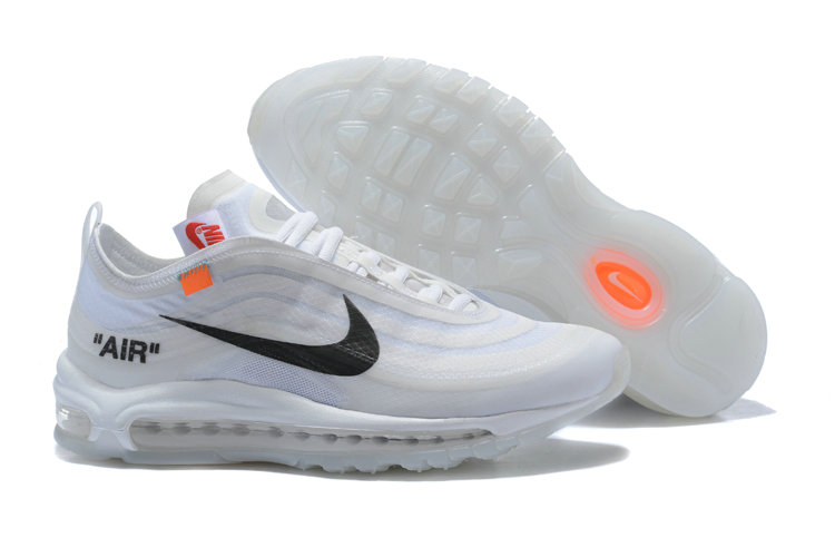 2018 Womens Nike OFF-WHITE Air Max 97 SneakerBoots White Cheap Sale On VaporMaxRunning