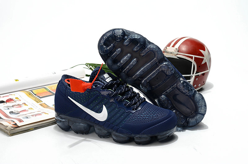 Nike Shoes Cheap Nike Air VaporMax For Kids Navy Blue White On VaporMaxRunning