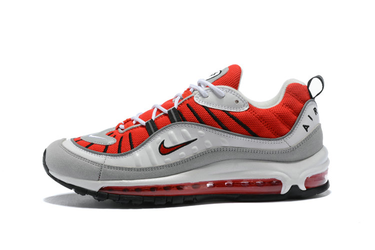 Nike Shoes Cheap Nike Air Maxs 98 Mens Fire Red Grey White Black On VaporMaxRunning
