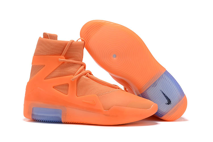 2019 Cheap Nike Air Fear Of God 1 Orange Pulse On VaporMaxRunning