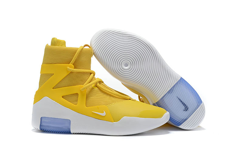 2019 Cheap Nike Air Fear of God 1 Amarillo-White AR4237-700 On VaporMaxRunning
