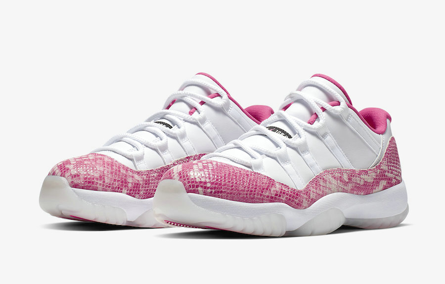 2019 Cheap Nike Air Jordan 11 Low Pink Snakeskin AH7860-106 White Watermelon-Black On VaporMaxRunning