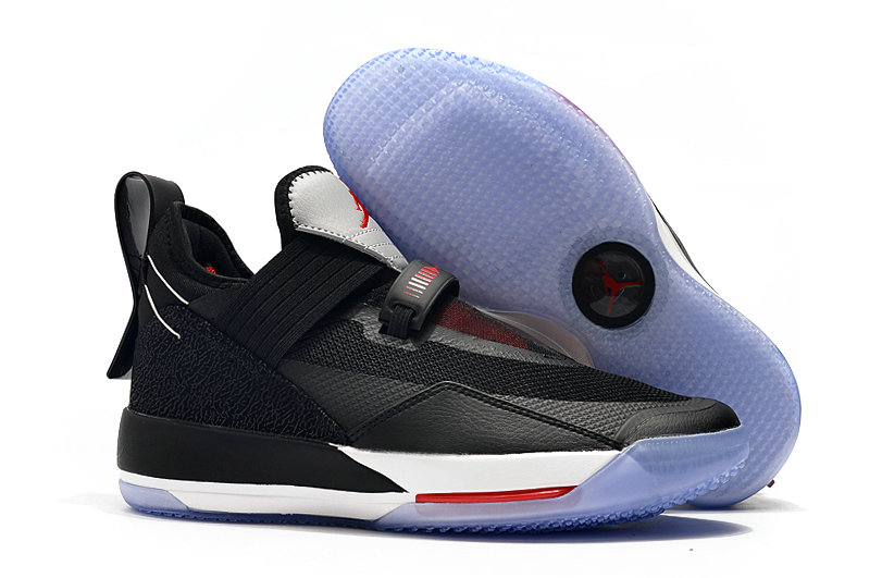 2019 Cheap Nike Air Jordan 33 Low Black White Red On VaporMaxRunning