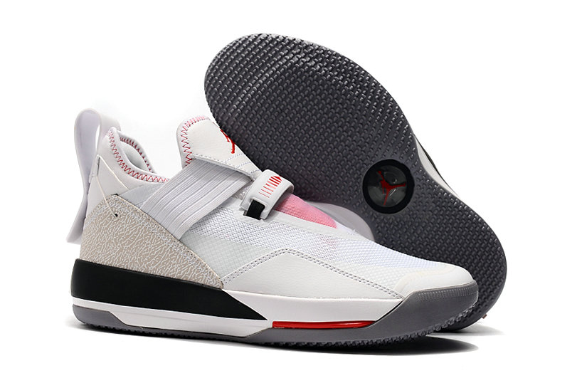 2019 Cheap Nike Air Jordan 33 Low White Red Black On VaporMaxRunning