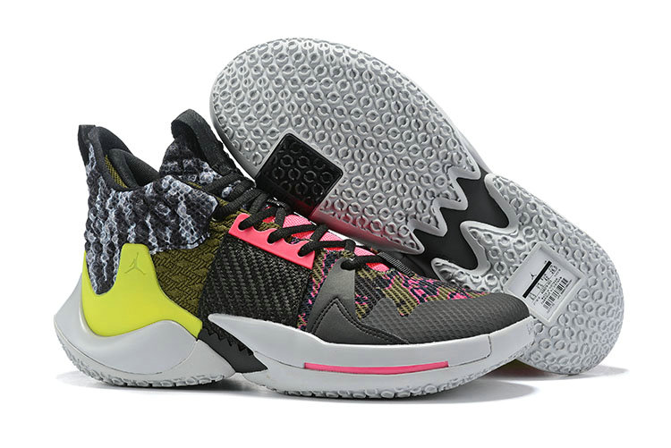 2019 Cheap Nike Air Jordan Mens Why Not Zer0.2 Basketball Shoes Light Smoke Grey Black-Cyber-Hyper Pink On VaporMaxRunning