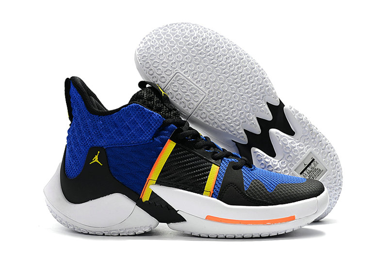 2019 Cheap Nike Air Jordan Mens Why Not Zer0.2 Basketball Shoes Royal Blue Yellow White Black On VaporMaxRunning