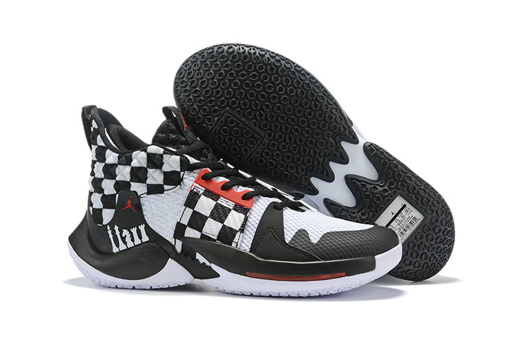2019 Cheap Nike Air Jordan Mens Why Not Zer0.2 Basketball Shoes White Black Red On VaporMaxRunning