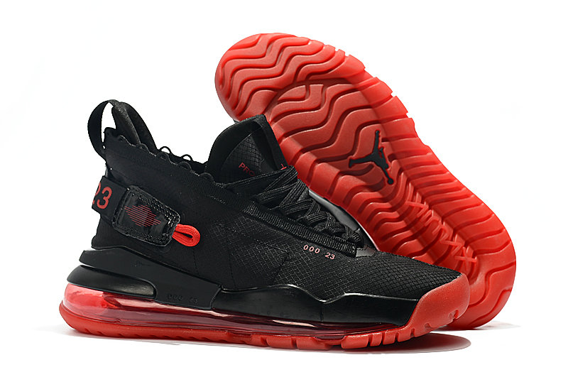 2019 Cheap Nike Air Jordan Proto Max 720 Black And Red BQ6623-006 On VaporMaxRunning