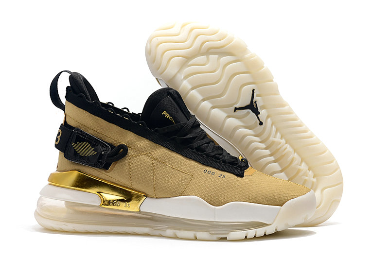 2019 Cheap Nike Air Jordan Proto-Max 720 Club Gold Black-White-Anthracite BQ6623-700 On VaporMaxRunning