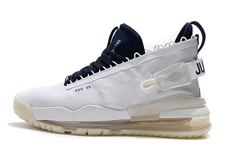 2019 Cheap Nike Air Jordan Proto Max 720 White Navy Blue For Sale On VaporMaxRunning