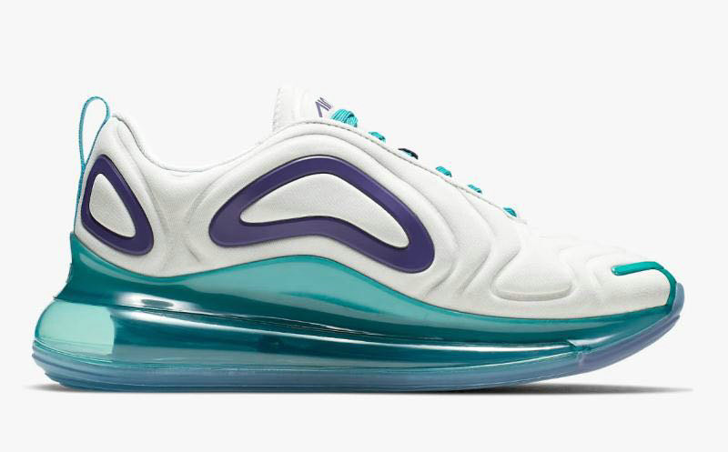 2019 Cheap Nike Air Max 720 White Purple Green On VaporMaxRunning