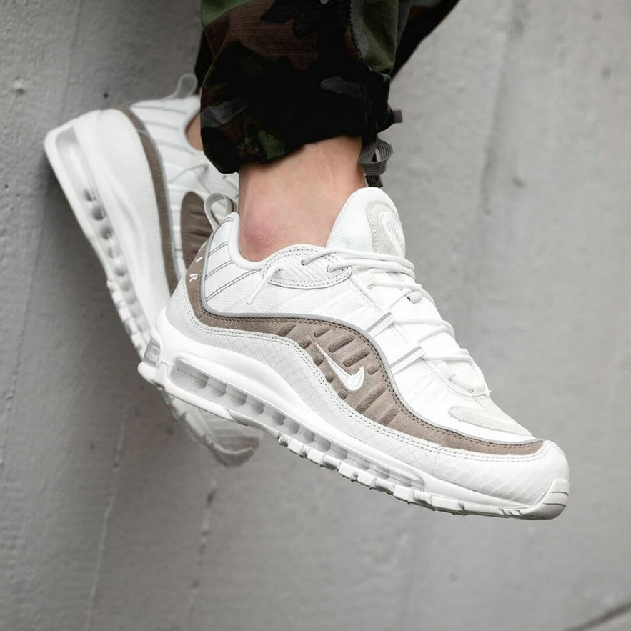 2019 Cheap Nike Air Max 98 Exotic Skin Pack AO9380-100 On VaporMaxRunning