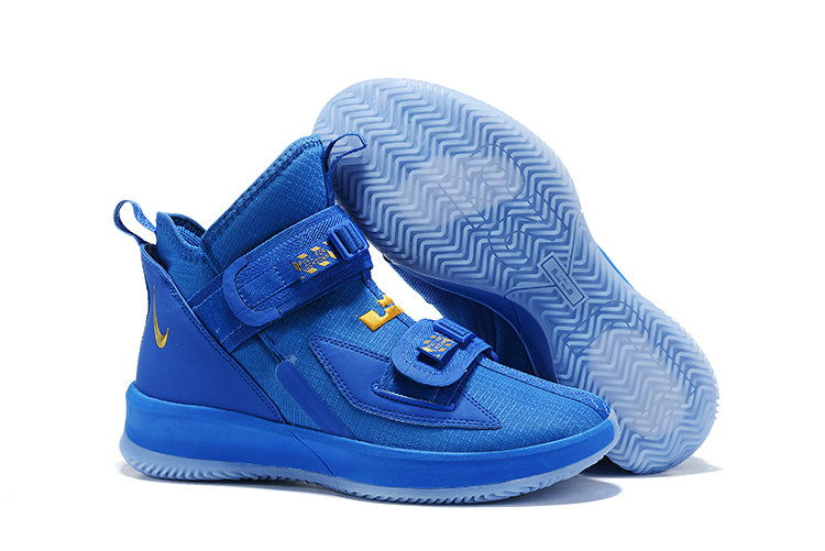 2019 Cheap Nike Air Zoon Lebron Soldier 13 XIII Gold Royal Blue On VaporMaxRunning