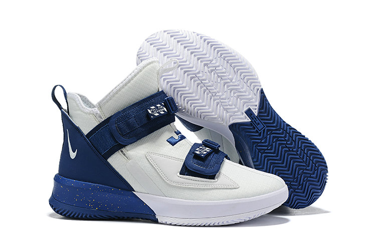 2019 Cheap Nike Air Zoon Lebron Soldier 13 XIII White Navy Blue On VaporMaxRunning
