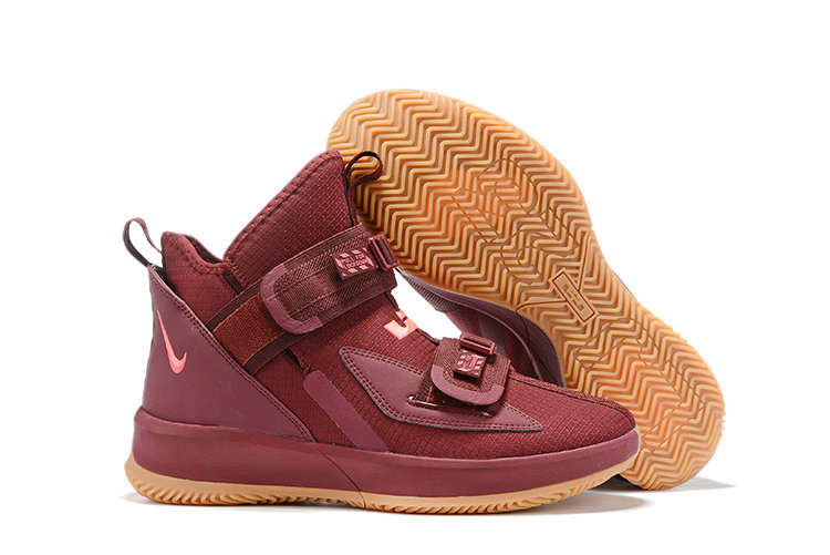 2019 Cheap Nike Lebron Soldier 13 Team Red Wheat On VaporMaxRunning