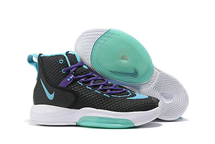 2019 Cheap Nike Zoom Rise Aqua Green Black White Purple On VaporMaxRunning