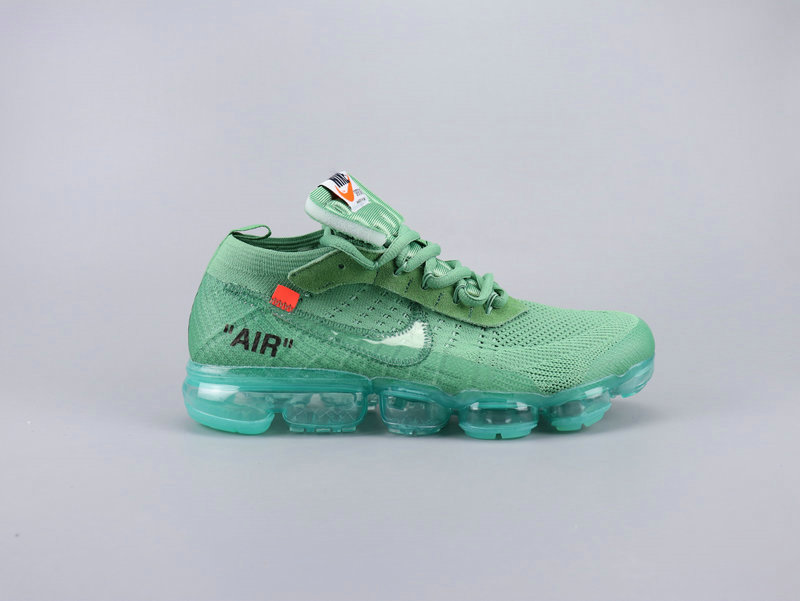 2019 Cheap Nikes Air VaporMaxs x Off-White Aqua Green Grass Green On VaporMaxRunning