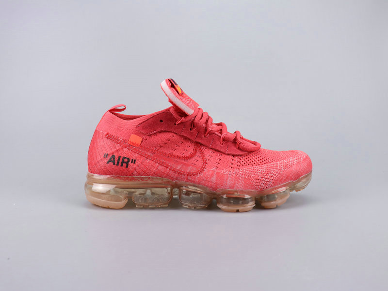 2019 Cheap Nikes Air VaporMaxs x Off-White Watermelon Red On VaporMaxRunning