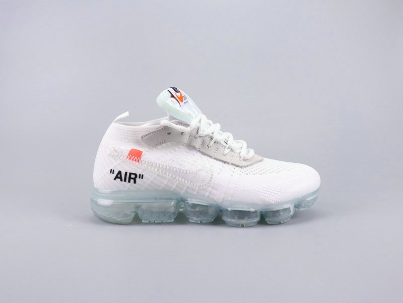 2019 Cheap Nikes Air VaporMaxs x Off-White White Total Crimson-Black AA3831-100 On VaporMaxRunning