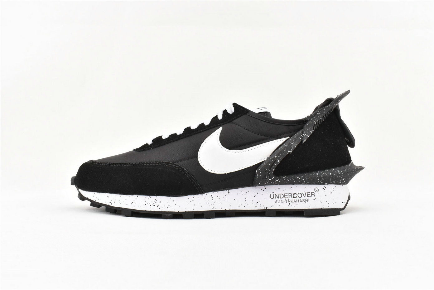2019 Cheap Sacai x Nike Waffle Racer Special Shaped Black White Splash Ink AA6853 001 On VaporMaxRunning