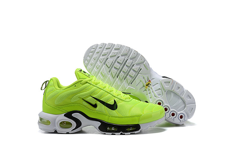 2019 Nike Air Max TN Plus Cheap Grass Green Black White On VaporMaxRunning