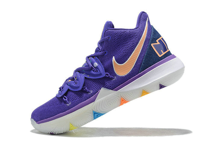 Where To Buy 2019 Nike Kyrie 5 Have A Nike Day Glacier Blue Purple Gold White On VaporMaxRunning