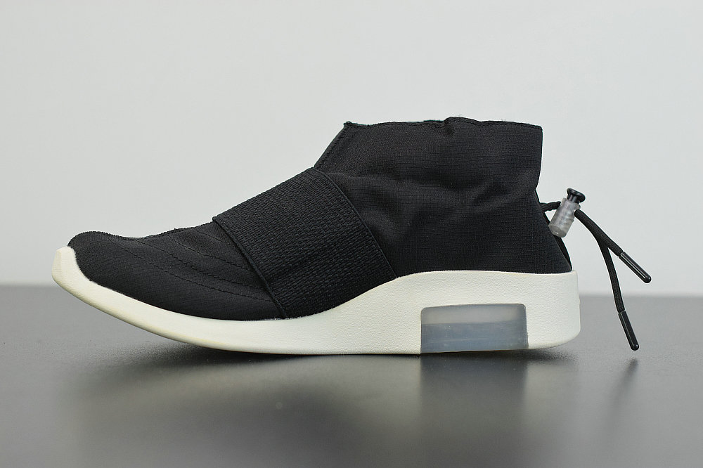 2019 Where To Buy Cheap Nike Air Fear Of God Mid Black White AR8008-201 On VaporMaxRunning
