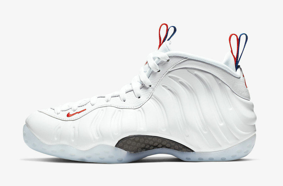 2019 Where To Buy Cheap Nike Air Foamposite One USA White-Game Royal-Habanero Red AA3963-102 On VaporMaxRunning