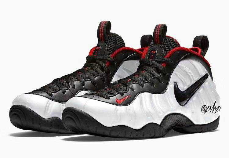 2019 Where To Buy Cheap Nike Air Foamposite Pro White Black-University Red 624041-103 On VaporMaxRunning