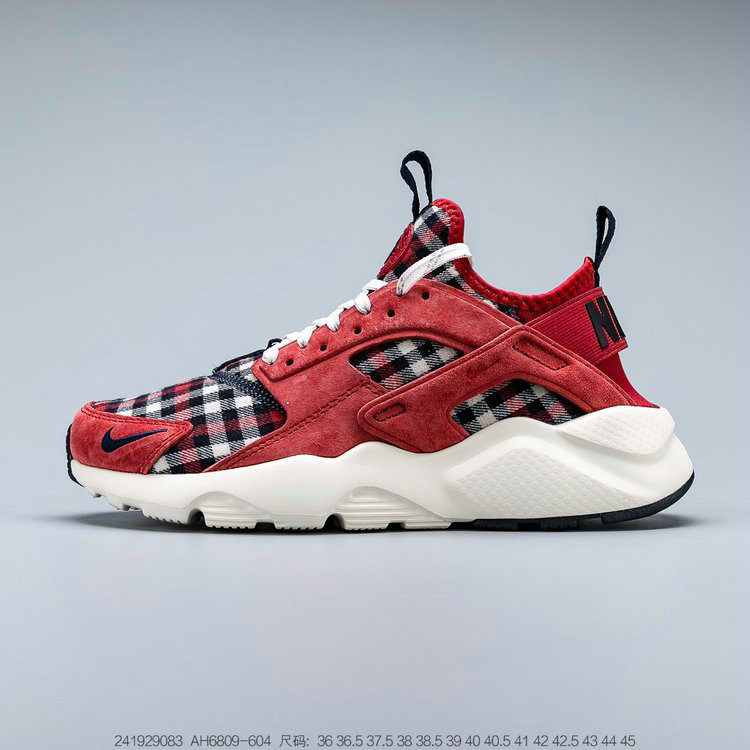 2019 Where To Buy Cheap Nike Air Huarache Ultra Suede ID Red Blue White Rouge Bley Blanc AH6809-604 On VaporMaxRunning