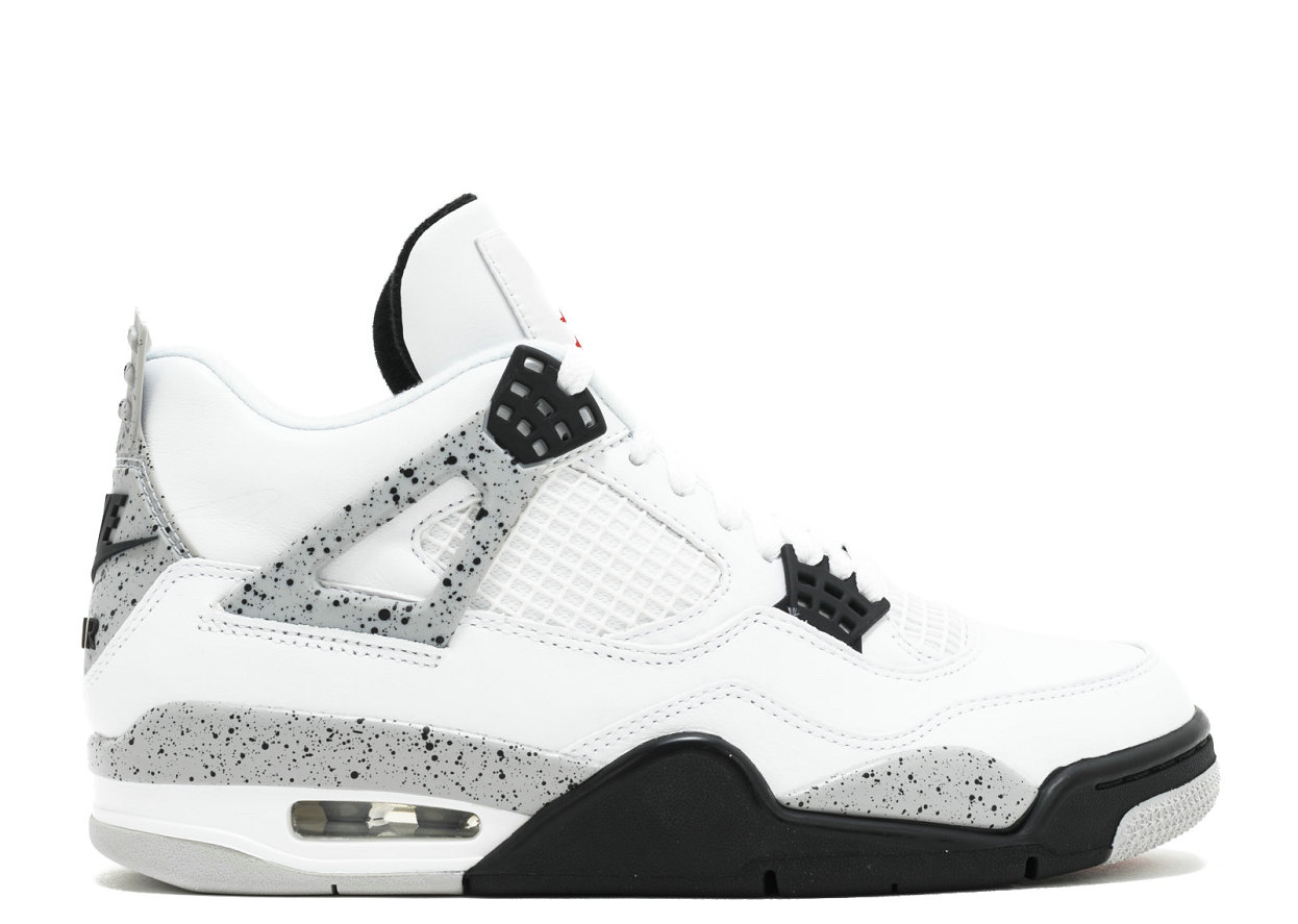 2019 Where To Buy Cheap Nike Air Jordan 4 Retro OG White Cement 840606-192 On VaporMaxRunning