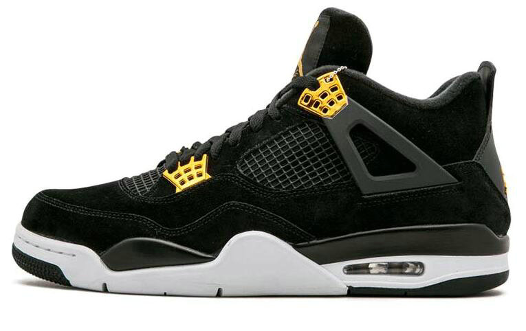 2019 Where To Buy Cheap Nike Air Jordan 4 Retro Royalty Unisex Black Metallic Gold-White 308497-032 On VaporMaxRunning