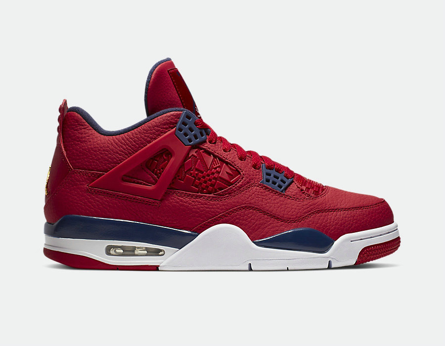 2019 Where To Buy Cheap Nike Air Jordan 4 Retro Se Fiba Gym Red Obsidian-White-Metallic Gold CI1184-617 On VaporMaxRunning