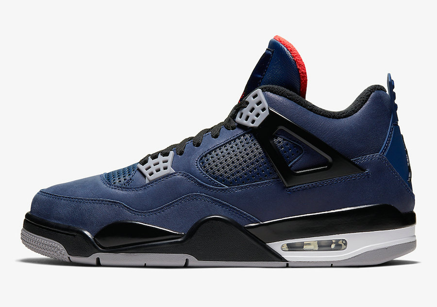 2019 Where To Buy Cheap Nike Air Jordan 4 WNTR Loyal Blue White-Habanero Red-Black CQ9597-401 On VaporMaxRunning