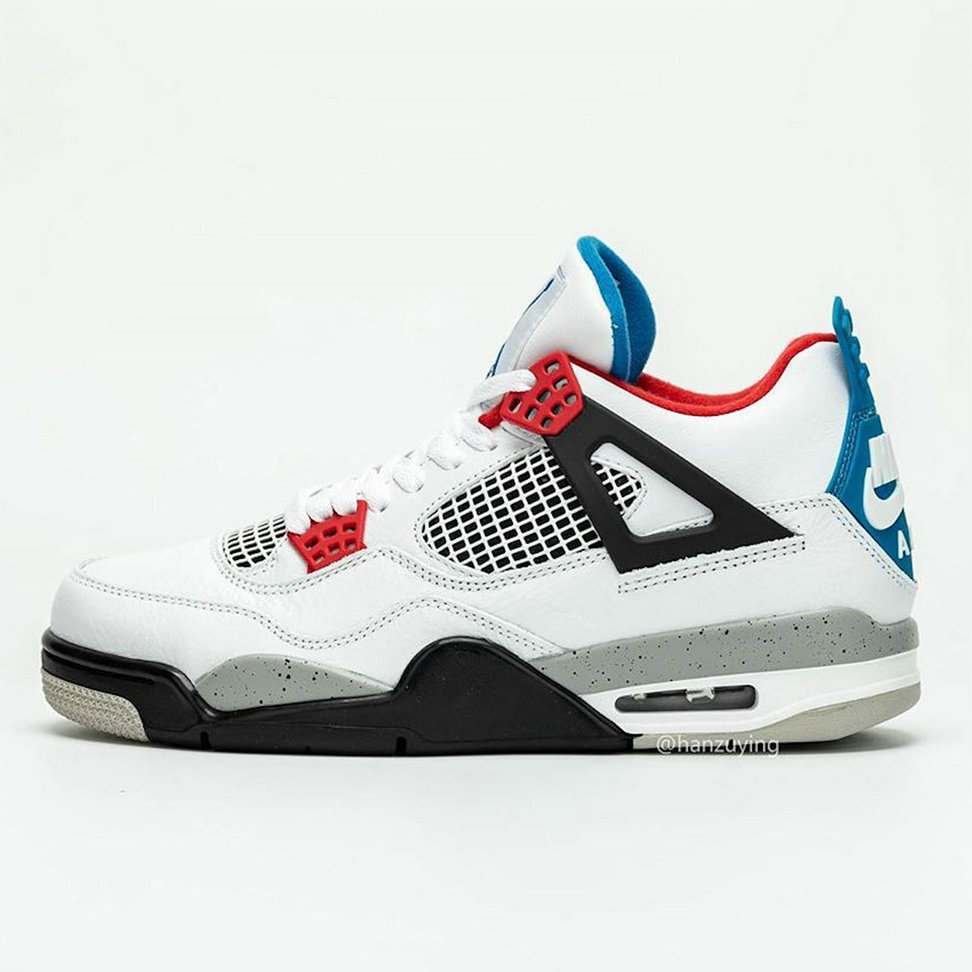2019 Where To Buy Cheap Nike Air Jordan 4 What The White Military Blue-Fire Red-Tech Grey CI1184-1461 On VaporMaxRunning