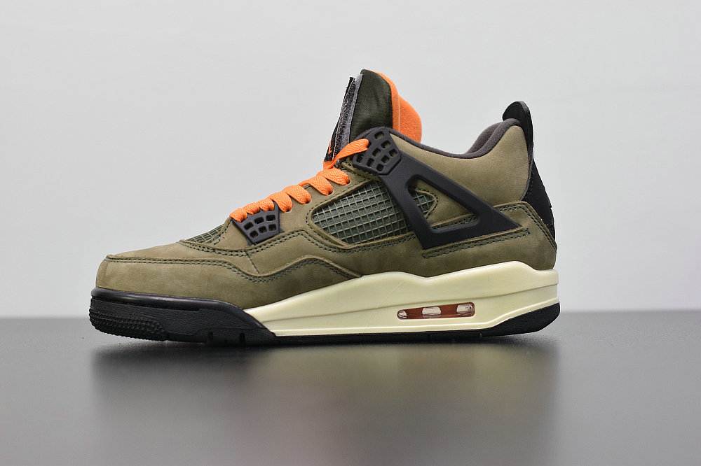 2019 Where To Buy Cheap Nike Air Jordan 4 x Travis Scott Olive Deep Green Clementine Black On VaporMaxRunning