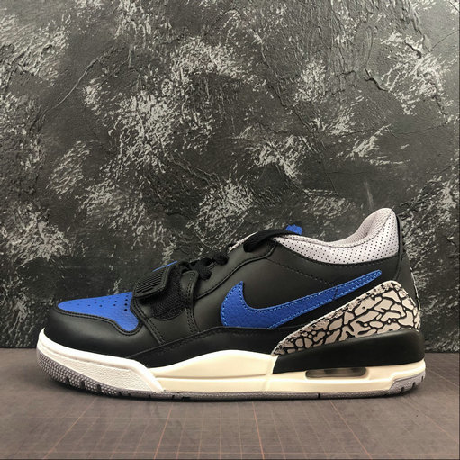 2019 Where To Buy Cheap Nike Air Jordan LEGACY 312 LOW Black Game Royal White Noir Blanc Jeu Royal CD7066-041 On VaporMaxRunning
