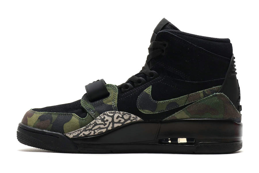 2019 Where To Buy Cheap Nike Air Jordan Legacy 312 Black Camo Green-Black AV3922-003 On VaporMaxRunning