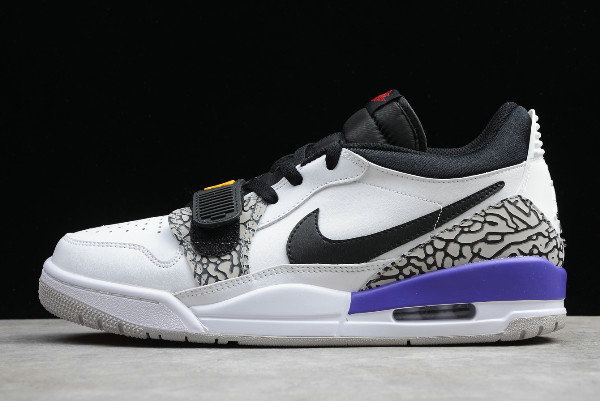2019 Where To Buy Cheap Nike Air Jordan Legacy 312 Low White Black-Purple CD7069-108 On VaporMaxRunning