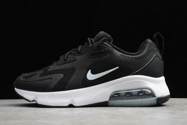 2019 Where To Buy Cheap Nike Air Max 200 Black White Dark Black Metal Silver Noir Blanc Dark Noir Metaux Argent CI3865-001 On VaporMaxRunning