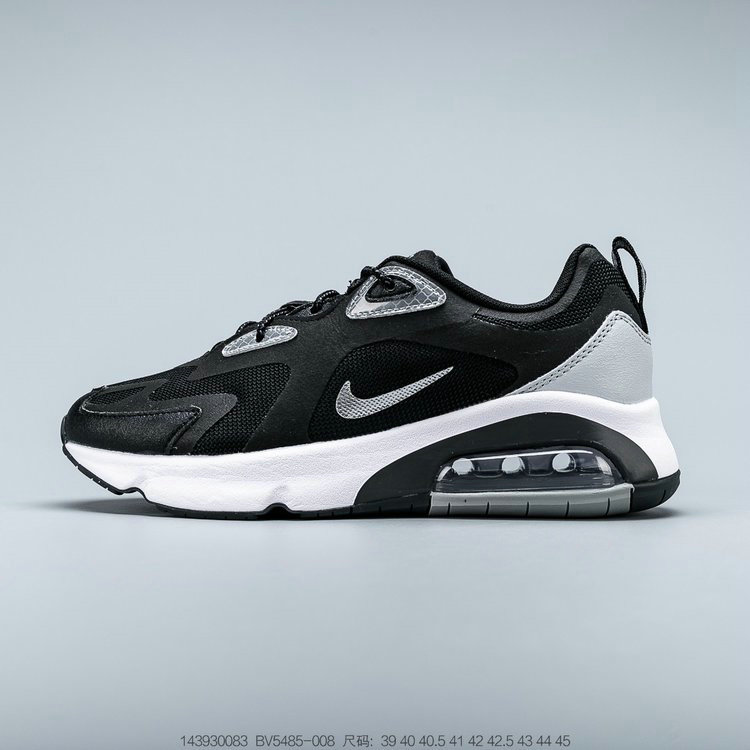 2019 Where To Buy Cheap Nike Air Max 200 Black White Grey Noir Blanc Gris BV5485-008 On VaporMaxRunning