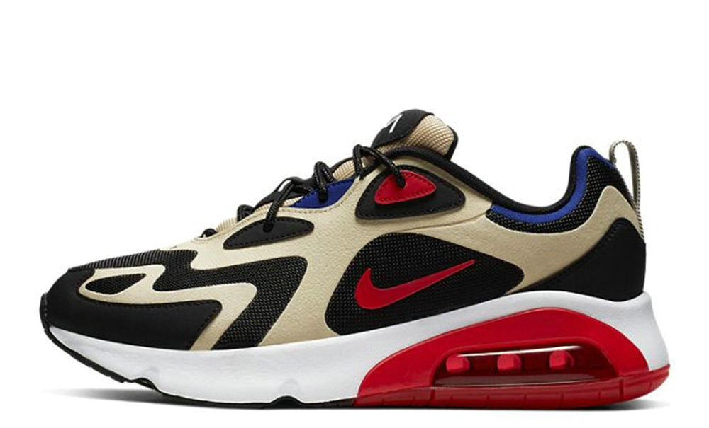 2019 Where To Buy Cheap Nike Air Max 200 Gold Red AQ2568-700 On VaporMaxRunning