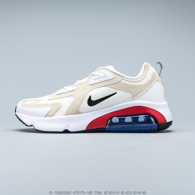 2019 Where To Buy Cheap Nike Air Max 200 Sail Black Desert Sand Phantom Voile Sable DU Desert Noir AT6175-100 On VaporMaxRunning