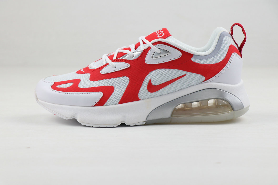 2019 Where To Buy Cheap Nike Air Max 200 University Red White On VaporMaxRunning
