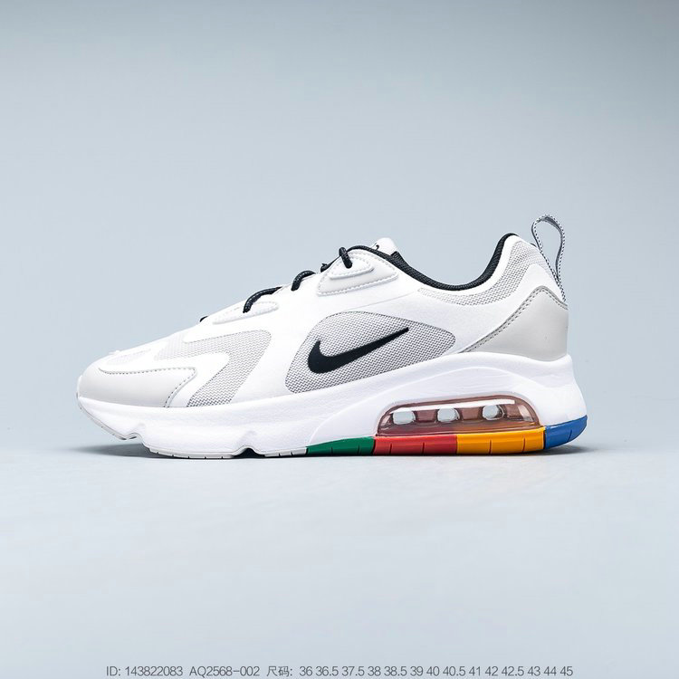 2019 Where To Buy Cheap Nike Air Max 200 Vast Grey Black White Gris Infini Blanc Noir AQ2568-002 On VaporMaxRunning