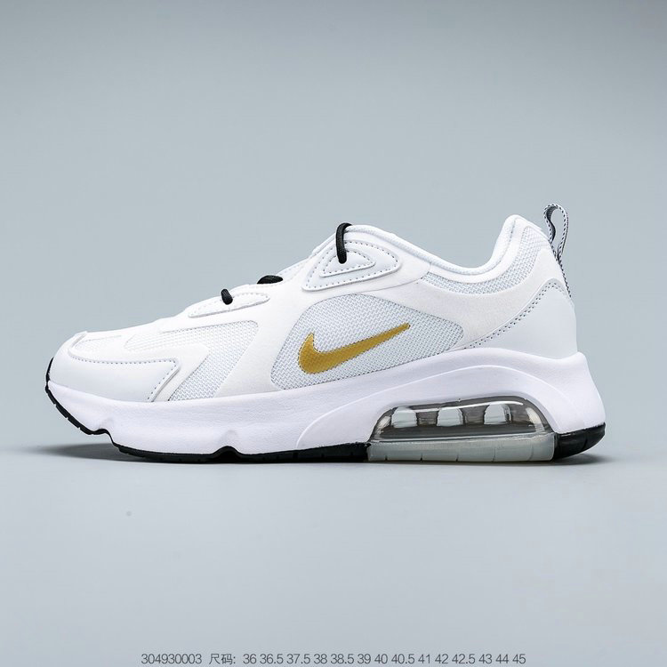 2019 Where To Buy Cheap Nike Air Max 200 White Metallic Gold AT6175-102 On VaporMaxRunning