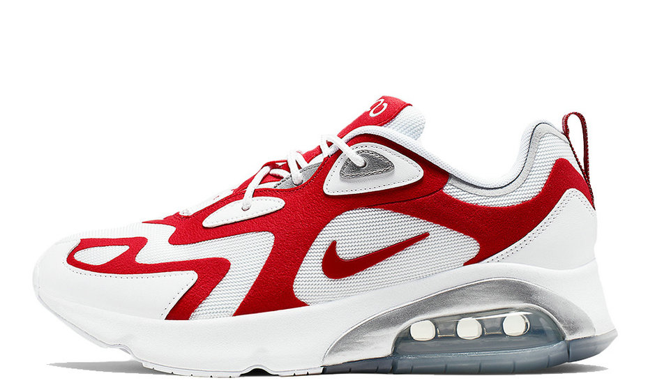 2019 Where To Buy Cheap Nike Air Max 200 White Red AQ2568-100 On VaporMaxRunning