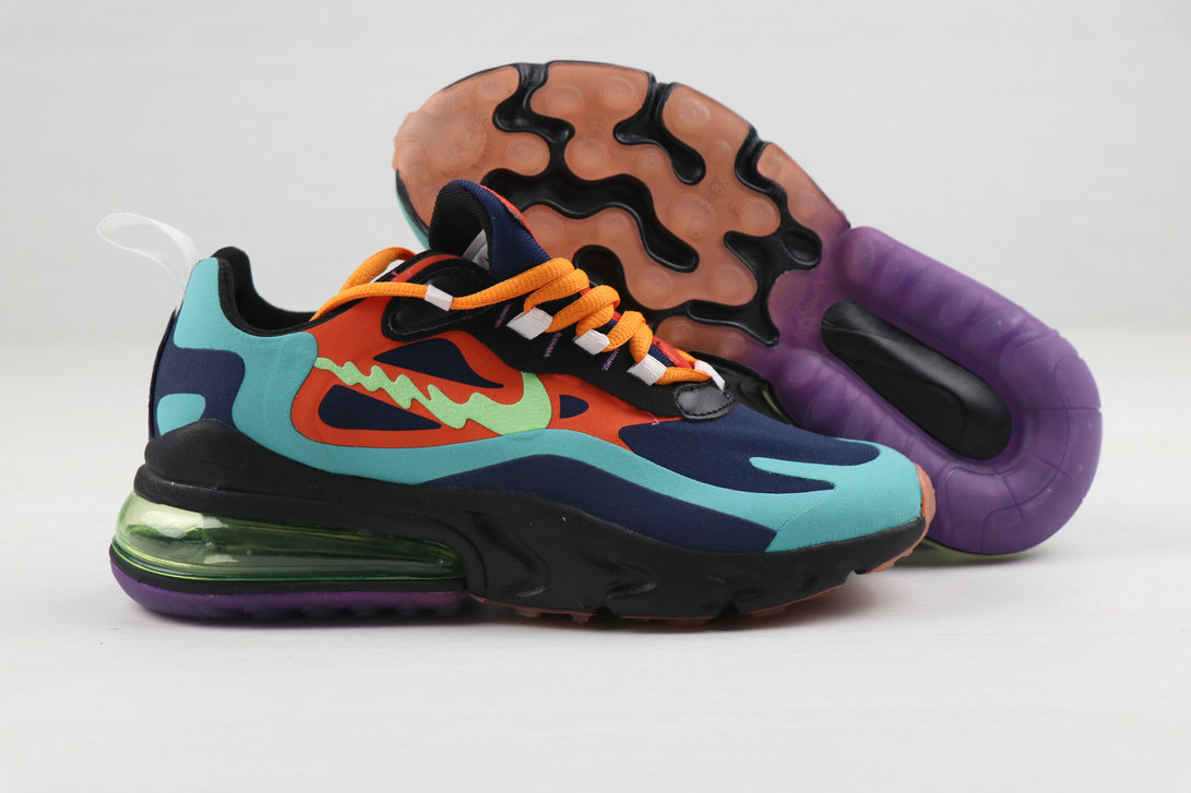 2019 Where To Buy Cheap Nike Air Max 270 React Colorful On VaporMaxRunning