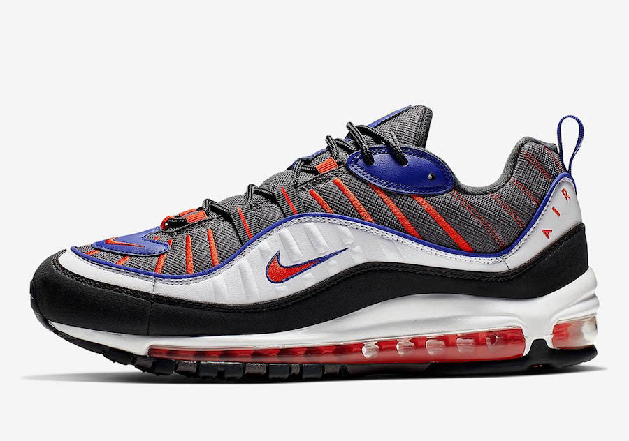 2019 Where To Buy Cheap Nike Air Max 98 Gunsmoke Team Orange-Laser Orange-White 640744-012 On VaporMaxRunning