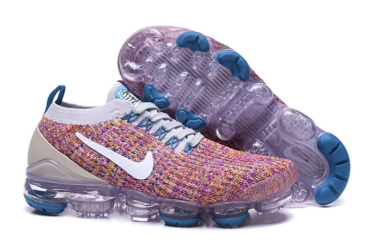 2019 Where To Buy Cheap Nike Air VaporMax Flyknit 3 Sand Purple AJ6910-007 On VaporMaxRunning